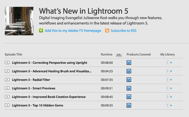 Here's some of the new features in LR 5.0.